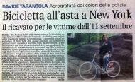 la storia della bicicletta aerografata da Tarantola per le vittime dell'11 settembre